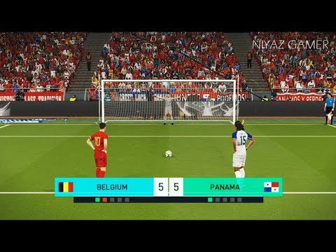 BELGIUM vs PANAMA | Penalty Shootout | PES 2018 Gameplay PC