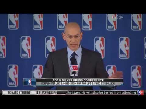 Adam Silver Bans Donald Sterling from NBA Press Conference