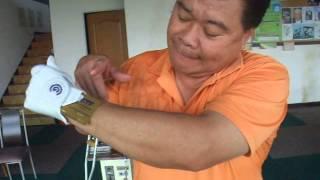 蔡德文教練(老查)示範一號木桿的揮桿要領