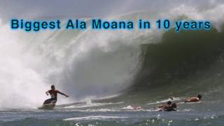 Biggest Ala Moana surf in 10 years