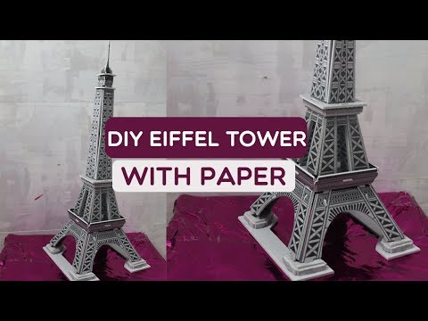 DIY eiffel tower with paper Puzzle | Dhruvi Shah