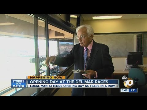 Man, 92, attends Del Mar Racetrack Opening Day for 65th straight year