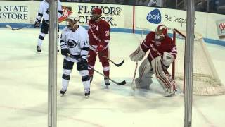Penn State putting pressure on Wisconsin at Pegula Ice Arena