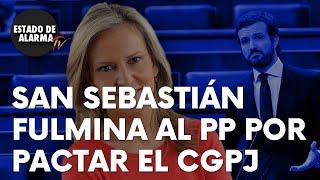 San Sebastián fulmina al PP por el pastelero al pactar el CGPJ