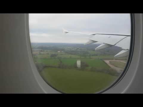 Emirates EK19 A380 Landing Manchester Airport 21/01/17 4k