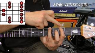 Gitarre lernen - Die Tonleitern - Die Pentatonik - Fingersatz5