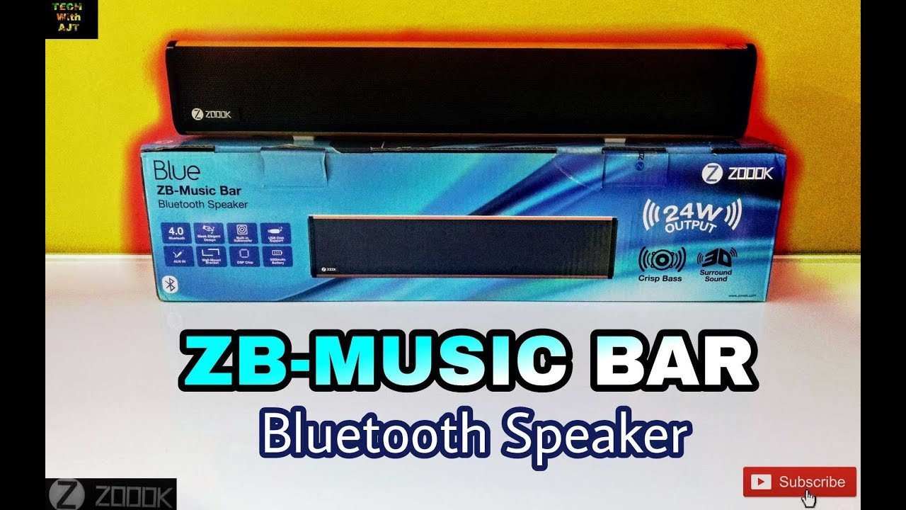 Zoook ZB- Music Bar Unboxing & Review    Sound & Bass Test