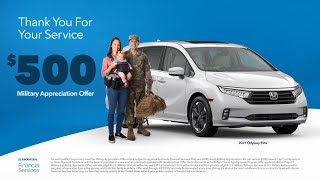 homepage tile video photo for Honda Military Appreciation Offer 2021 – Thank You For Your Service