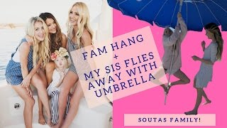 Everleigh vlogs, Savannah flies away with umbrella, family weekend ;)