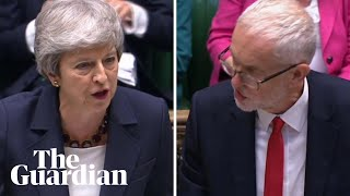 Theresa May and Jeremy Corbyn trade barbs on Labour antisemitism and Tory Islamophobia
