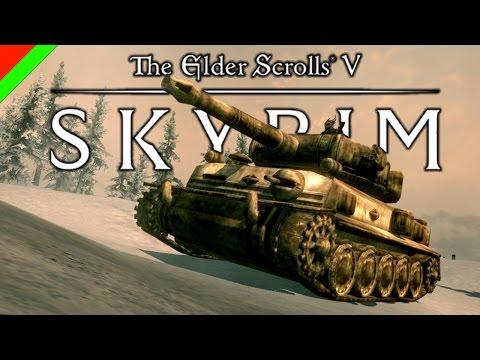Skyrim - รถถังมหาประลัย (ตลก ฮา,ช็อตเด็ด,Mod)