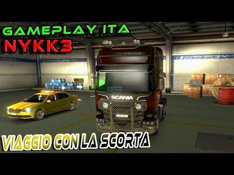 EURO TRUCK SIMULATOR 2 ONLINE - VIAGGIO CON LA SCORTA - GAMEPLAY ITA NYKK3
