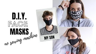 How to make 2 easy DIY face masks (no sewing machine)