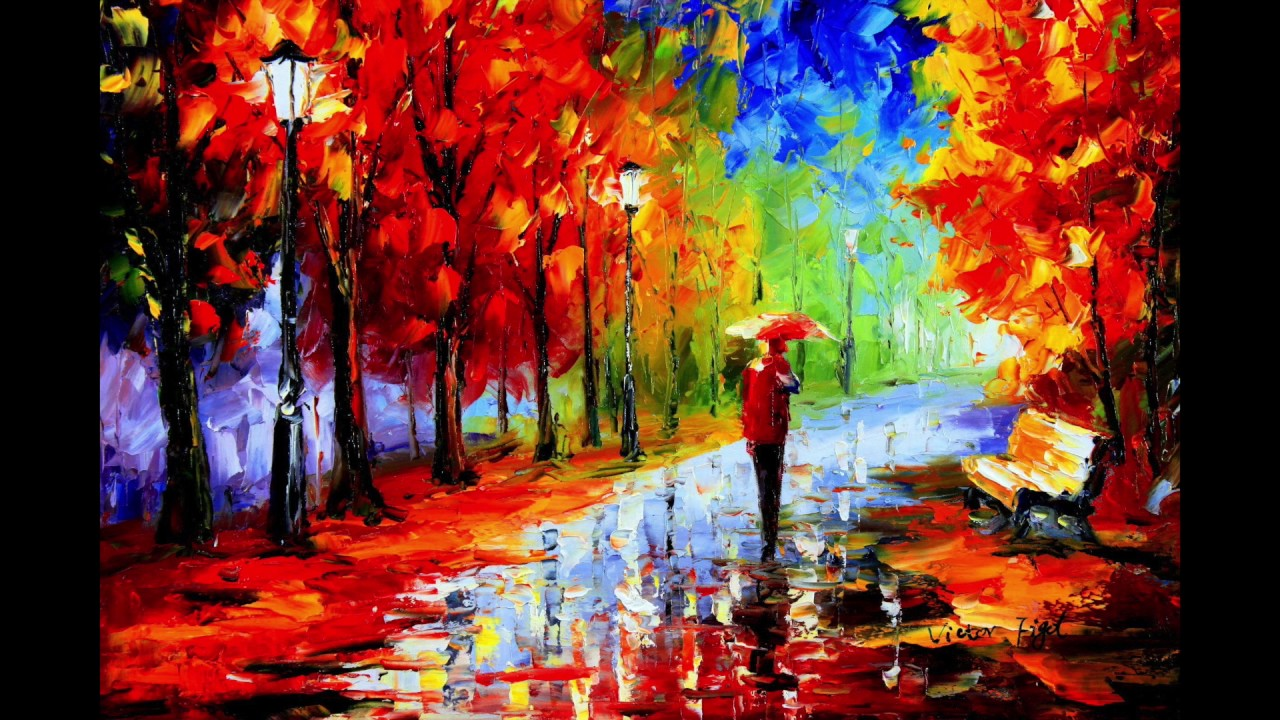Victor figol walking in the rain music adaptation youtube for Different types of abstract art
