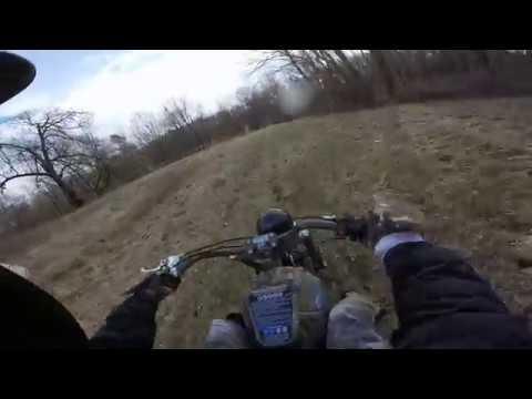 GoPro Baja Warrior Mini Bike Riding | Deep Woods Trails and Fields