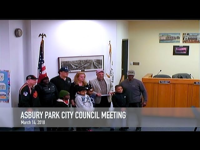 Asbury Park City Council Meeting - March 14, 2018