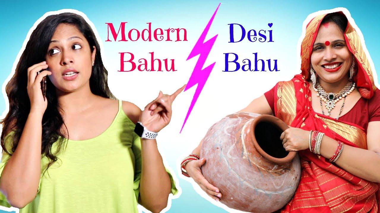 Download Desi Bahu vs Modern Bahu ..   #Roleplay #Sketch #ShrutiArjunAnand