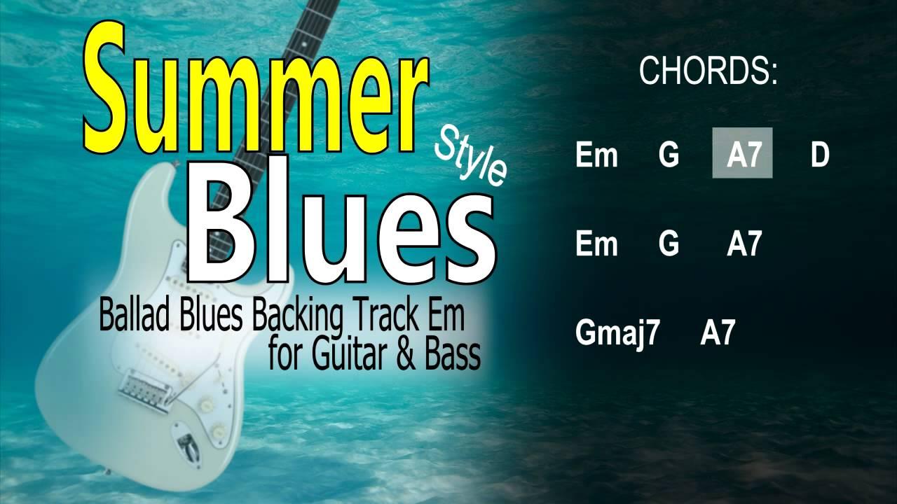 Summer Blues (David Gilmour, Eric Clapton,..) GUITAR & BASS ...