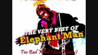 Download Elephant Man - Too Bad Mind (Soca Remix) MP3 song and Music Video