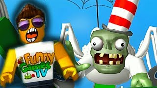 Dr. ZOMBIES against hero Robloks the adventures of little hero ROBLOX on map zombies vs plants