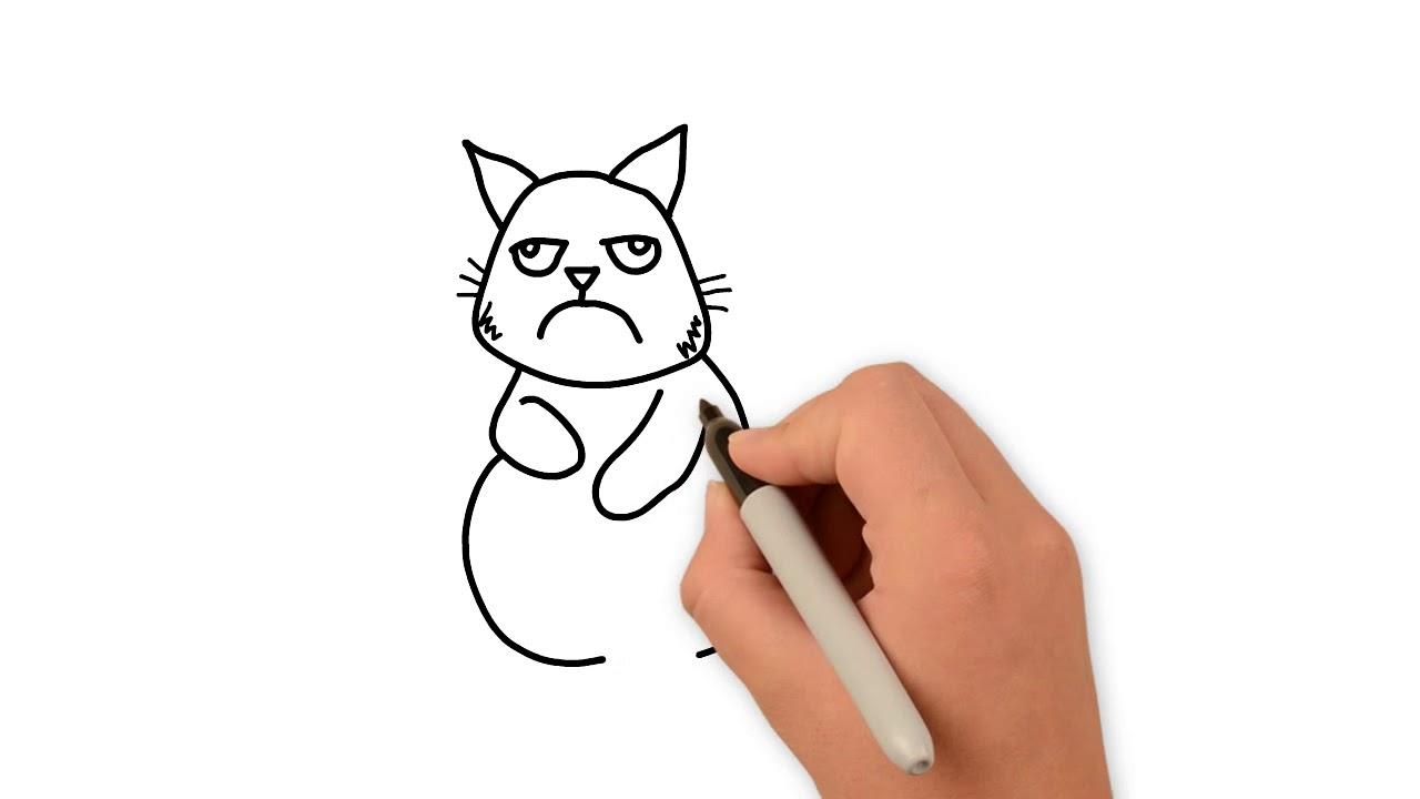 Como Desenhar Um Gato Bravo Youtube