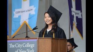 CCNY Commencement 2019: Valedictorian Elizabeth Yim