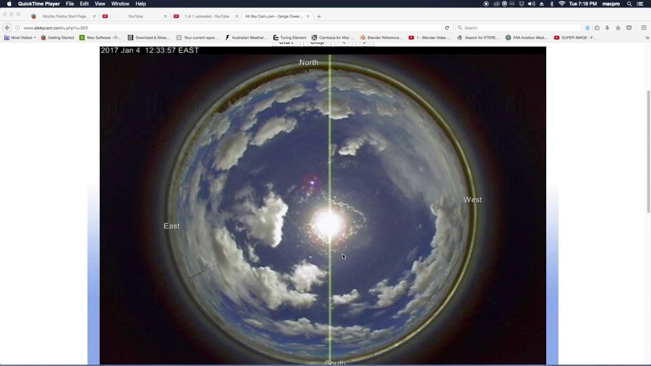 JAN 3 2017 LOOK WHATS BEHIND THE BIG WHITE BALL/ FAKE SUN IN THE SKY OVER  GORGE CREEK AUSTRALIA