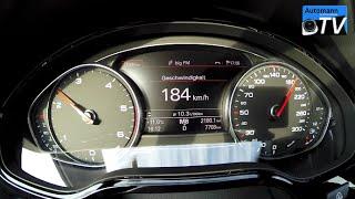 2015 Audi A8 3.0 TDI (258hp) - 0-220 km/h acceleration (1080p)