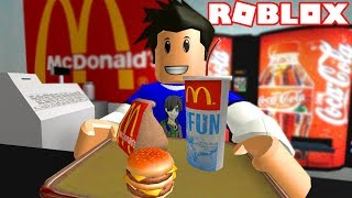 WORKS AT MCDONALDS I ROBLOX