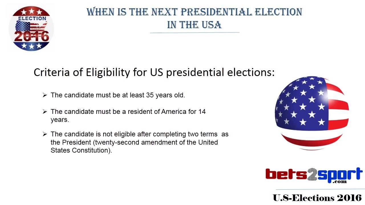 next presidential election us