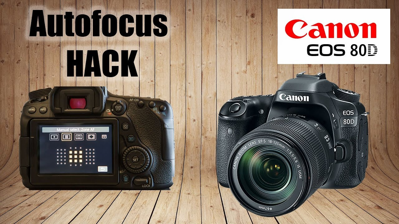 Canon EOS 80D: How To Select Focus Points on LCD While Shooting (Autofocus  HACK)