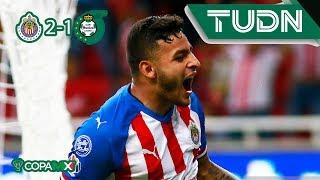 Fiesta rojiblanca | Chivas 2 - 1 Santos | Copa Mx 19 - 20 | J2 | TUDN
