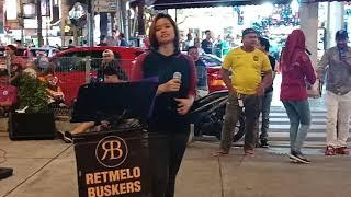 Pemuzik jalanan Bukit Bintang Kuala Lumpur Malaysia.