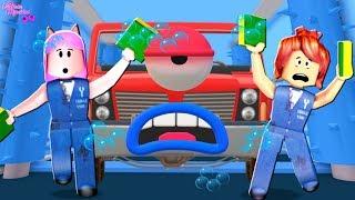 DEU RUIM NO LAVA JATO (Roblox- Escape The Car Wash Obby)