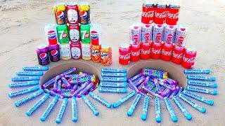 Various Coca Cola vs 7up, Pepsi, Mirinda and Other Sodas vs Mentos!