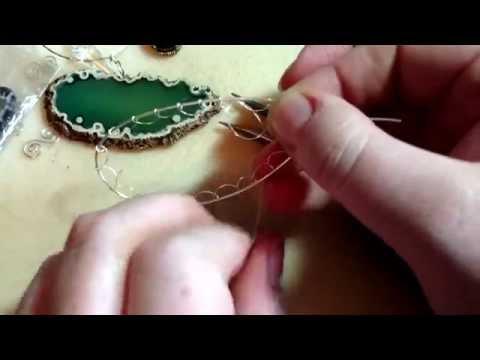 Agate slice frame netting tutorial part 1