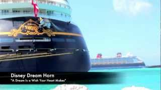 HORN BATTLE AS DISNEY DREAM PASSES DISNEY FANTASY AT CASTAWAY CAY