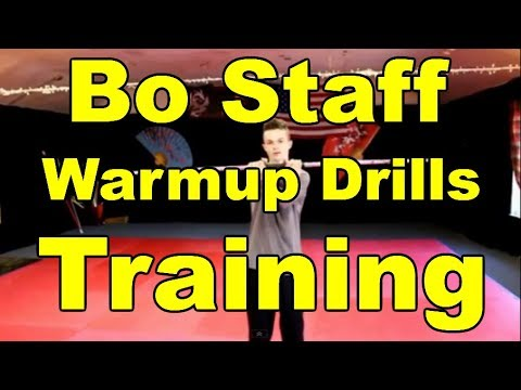Bo Staff Training | Warm up Drills For Bo Staff Competition Techniques Tricks