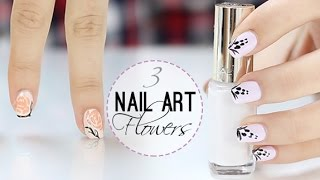 Diseños de uñas con flores| Nails art flower