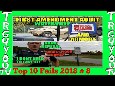 Name Refusal Waterville Police Confused First Amendment Audit Maine National Guard and Armory
