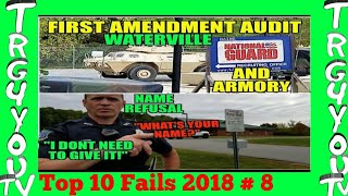 Name Refusal Waterville Police Confused First Amendment Audit Maine National Gaurd and Armory