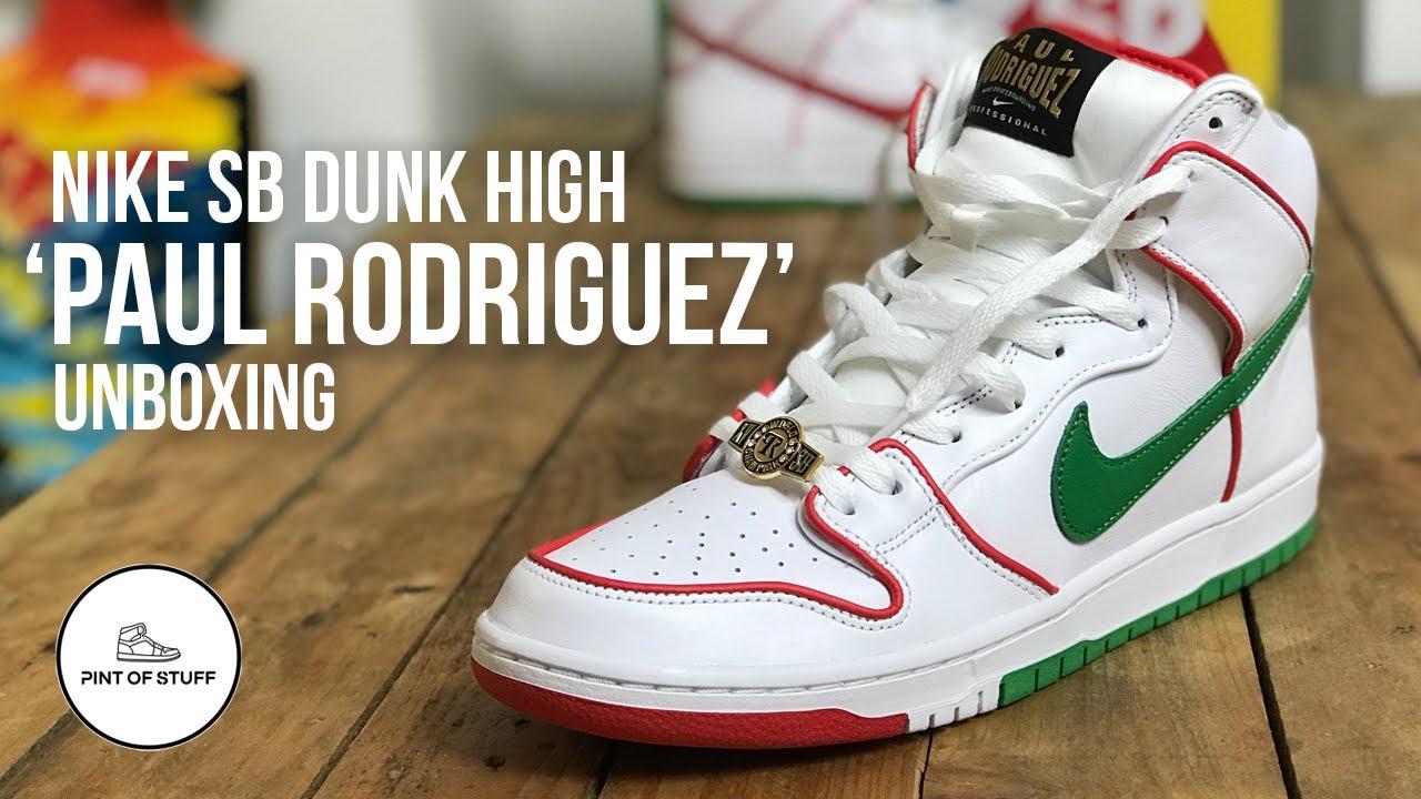 Hay una necesidad de Idear Sin alterar  KNOCKOUT - Nike SB Dunk High 'PAUL RODRIGUEZ' Sneaker Unboxing - YouTube