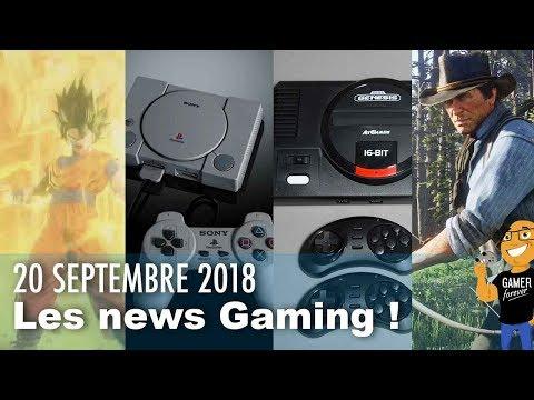 Retour PS1  MEGADRIVE Mini  Détails RED DEAD ONLINE  Nouveaux persos JUMP FORCE !
