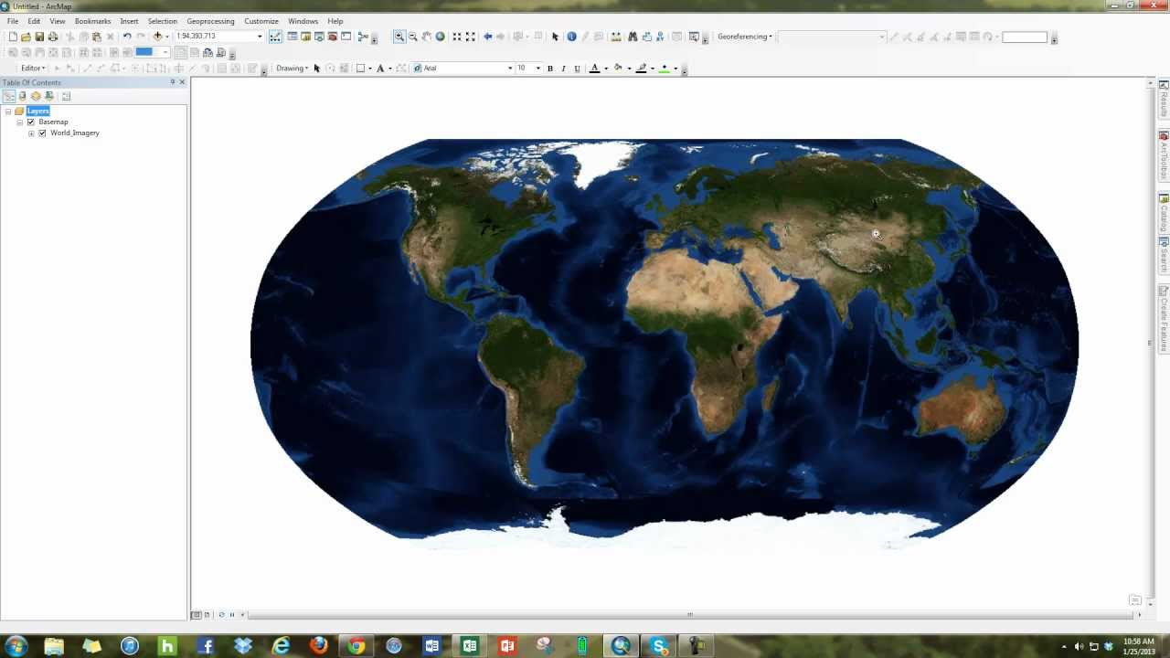 Gis World Map.How To Add A Basemap To Esri Arcmap 10 Youtube