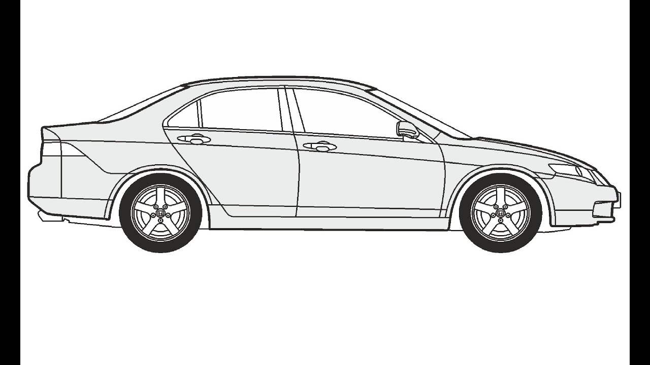 How To Draw A Honda Accord Honda Accord