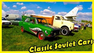 """Best Classic Soviet Cars Show in Kiev """"Old Car Land"""". Classic Cars from the 60s, 70s and 80s"""
