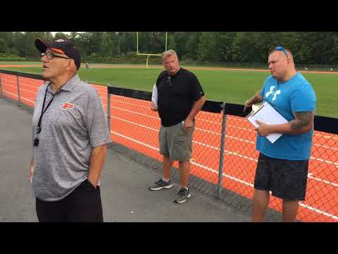 Paul Sealy's first day as head coach of Phoenix High School football