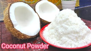 How to Make Desiccated Coconut  Home Made Dry Coconut Powder  Lilly&#39s Recipes