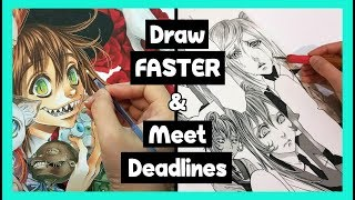 ❤How to Draw FASTER & Meet Deadlines ❤How to make Manga & Comics ❤Time managment