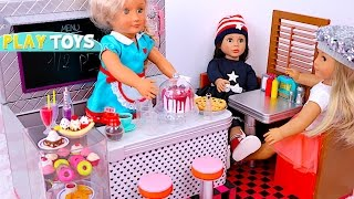 Baby Doll Kitchen Toys! 🎀 Pretend Play with Ice Cream Shop Toys!
